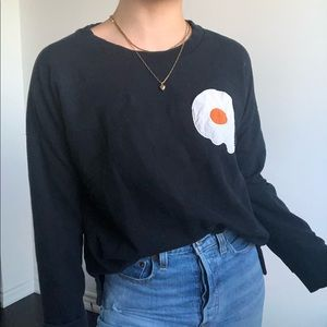 ZARA fried egg sweatshirt